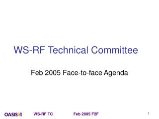 WS-RF Technical Committee