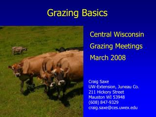 Grazing Basics