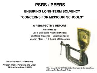 "ENSURING LONG-TERM SOLVENCY ""CONCERNS FOR MISSOURI SCHOOLS"""