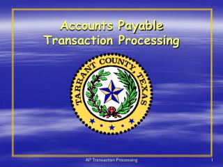 Accounts Payable  Transaction Processing