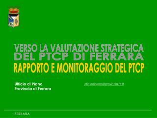 Ufficio di Piano  Provincia di Ferrara