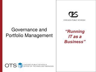 Governance and Portfolio Management