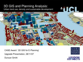 3D GIS and Planning Analysis: Urban land use, density and sustainable development