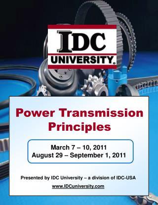 Power Transmission Principles