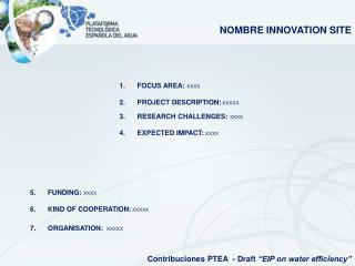 "Contribuciones PTEA  - Draft  ""EIP on water efficiency"""