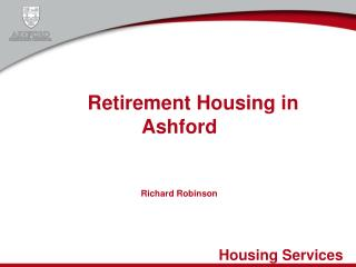 Retirement Housing in Ashford