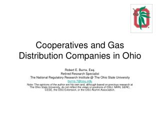 Cooperatives and Gas Distribution Companies in Ohio