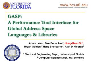 GASP:  A Performance Tool Interface for Global Address Space  Languages & Libraries