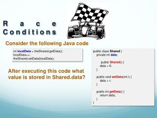 Consider the following Java code