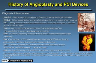 History of Angioplasty and PCI Devices