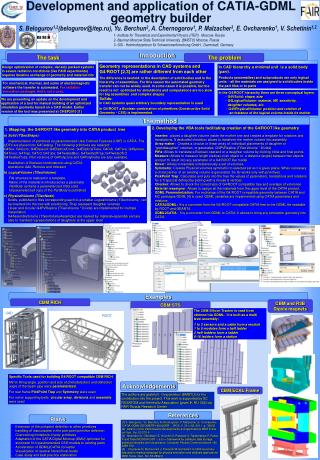 Development and application of CATIA-GDML geometry builder