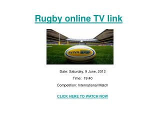 Argentina vs Italy live Stream Rugby