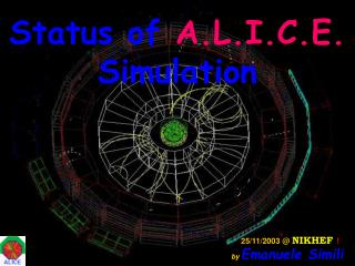 Status of  A.L.I.C.E.  Simulation