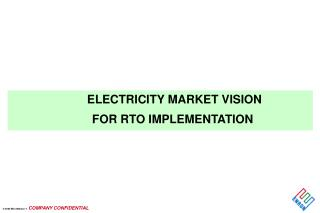 ELECTRICITY MARKET VISION