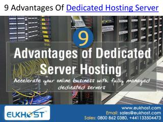 9 Advantages Of Dedicated Hosting Server