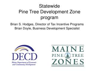 Statewide  Pine Tree Development Zone  program