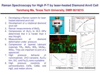 Developing a Raman system for laser heated diamond anvil cell.