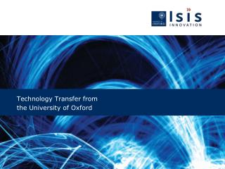 Technology Transfer from  the University of Oxford
