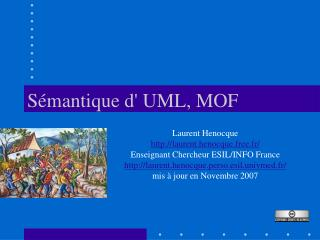 Sémantique d' UML, MOF