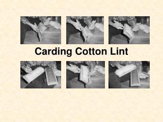 Carding Cotton Lint