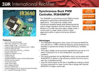 Synchronous Buck PWM Controller, IR3640MPbF