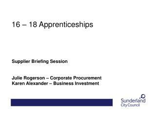 16 – 18 Apprenticeships