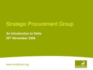 Strategic Procurement Group