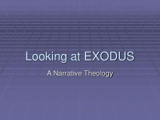 Looking at EXODUS
