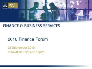 2010 Finance Forum