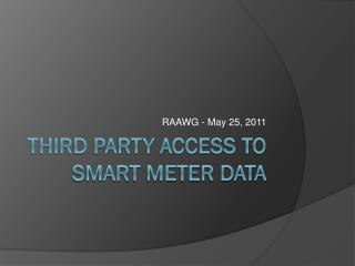 third party access to smart meter data