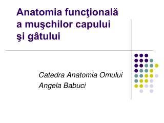 Anatomia funcţională  a muşchilor capului   şi gâtului