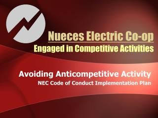 Nueces Electric Co-op Engaged in Competitive Activities