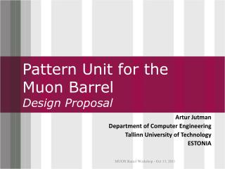 Pattern Unit for the Muon Barrel Design Proposal