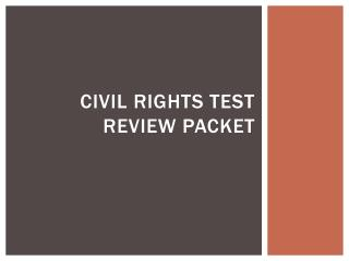Civil Rights Test Review Packet