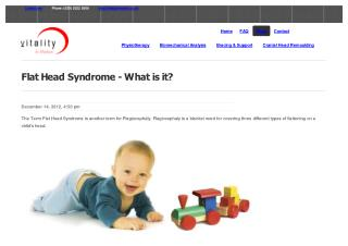 Flat Head Syndrome - What is it?
