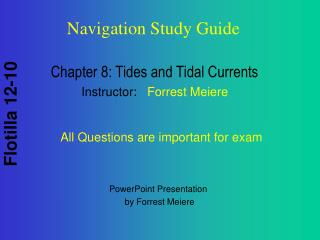 Chapter 8: Tides and Tidal Currents