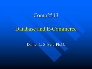 Comp2513 Database and E-Commerce
