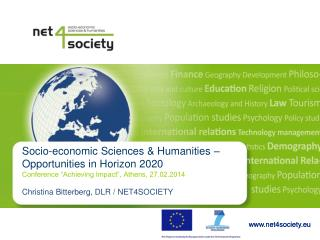 Socio-economic Sciences & Humanities –  Opportunities in Horizon 2020