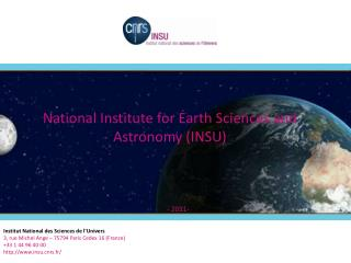 National Institute for Earth Sciences and Astronomy (INSU)