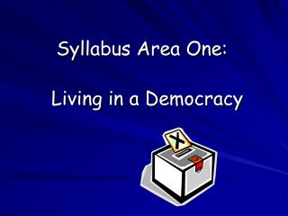 Syllabus Area One: