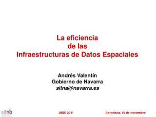 La eficiencia  de las  Infraestructuras de Datos Espaciales