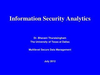 Information Security Analytics