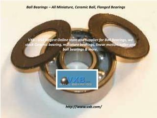 Metric Miniature Bearings