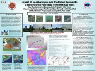 Impact Of Local Analysis And Prediction System On Coastal/Marine Forecasts from NWS Key West