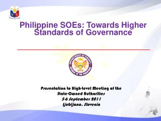 Philippine  SOEs: Towards Higher Standards of Governance