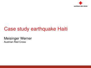 Case study earthquake Haiti