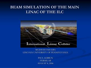 BEAM SIMULATION OF THE MAIN LINAC OF THE ILC