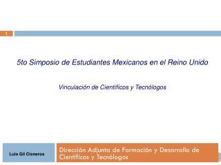 Dirección Adjunta de Formación y Desarrollo de Científicos y Tecnólogos