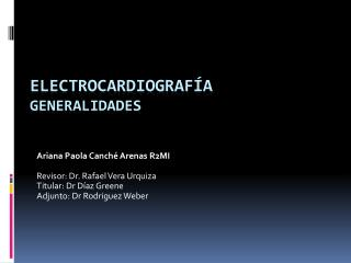 ELECTROCARDIOGRAF ÍA GENERALIDADES