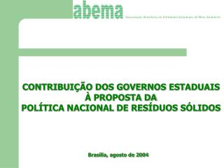 Associa��o Brasileira de Entidades Estaduais de Meio Ambiente